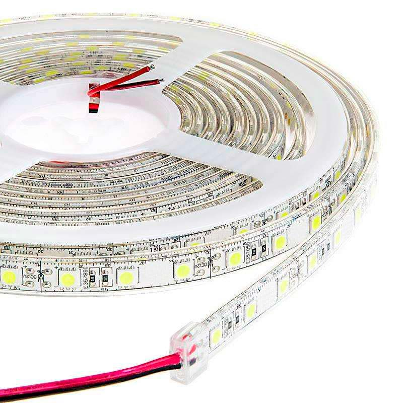 Tira LED EPISTAR SMD5050, DC24V CC, 5m (60 Led/m) - Sensor Temperatura - IP20, Blanco neutro